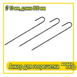 Анкер для крепления георешетки 10x800