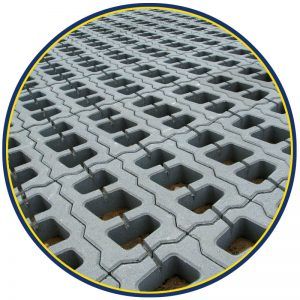 Бетонная газонная решетка