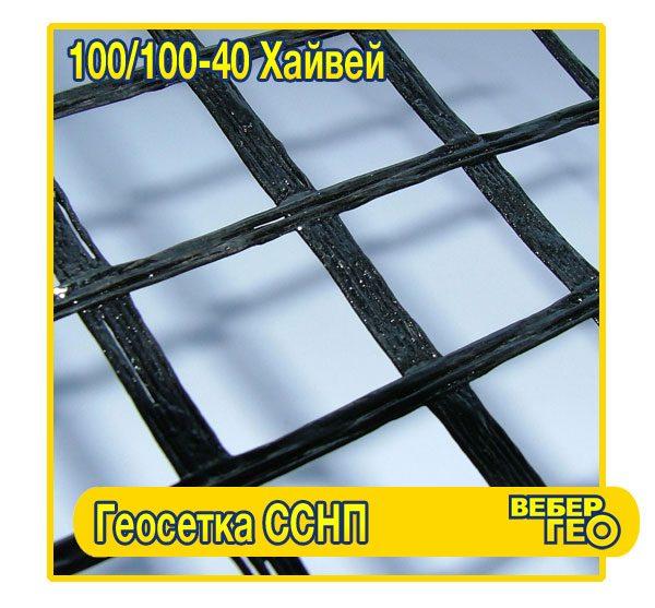 Геосетка ССНП 100/100-40 Хайвей (40х40; 100 кн; 4х50)